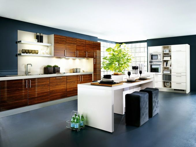 Examples of simple kitchen cabinets with modern style Contemporary http://www.creativehozz.com/2014/06/examples-of-simple-kitchen-cabinets.html