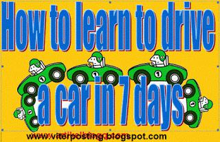 How to learn to drive a car in 7 days