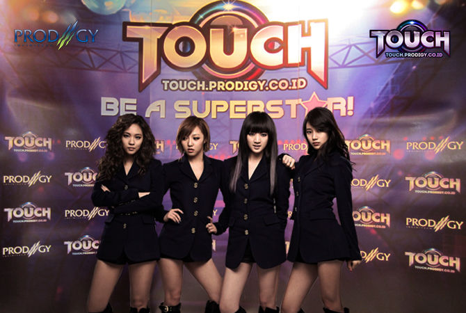 TOUCH Game casual dance 3D musical dengan hits-hits K-Pop (SNSD, Afterschool, Touch, Rain, 2NE1, SISTAR) . Klik http://touch.prodigy.co.id/ | http://touch.prodigy.co.id/register.php Register ID, install engine Unity dan gabung T-dancers