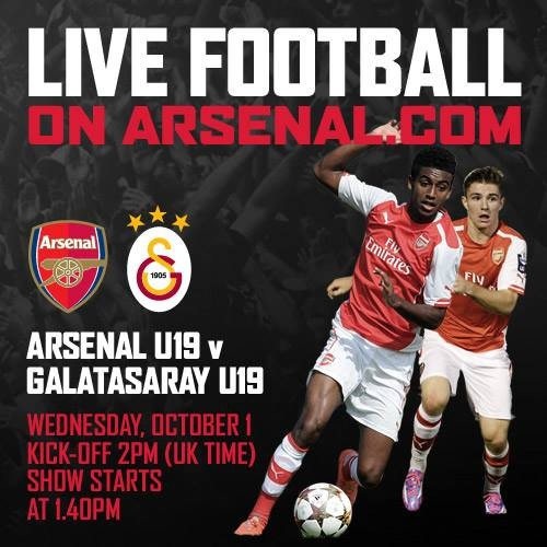 Theres LIVE football on Arsenal.com this Wednesday! http://arsn.al/7MYI26