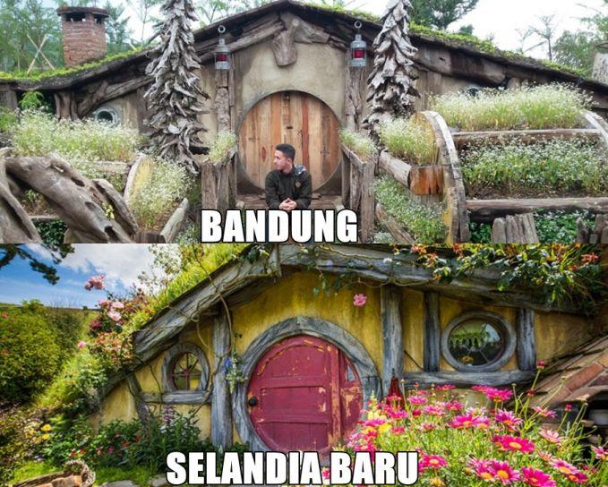 Rumah Hobbit di Lembang Bandung - Rumah Hobbit di Auckland, Selandia Baru