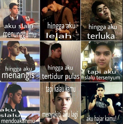 Meme Unik juga hasil Kreasi Netizen dengan kumpulan Foto Al Ghazali dengan berbagai Gaya.