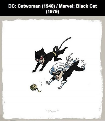 #13 Kucing Marvel : Black Cat (1979) DC : Catwoman (1940)