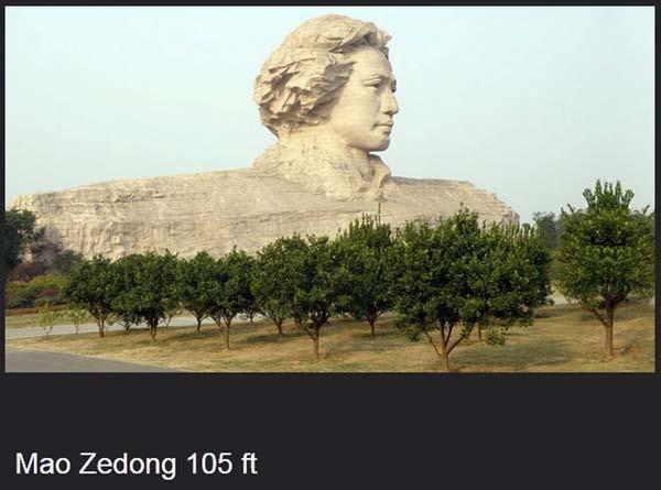 bukan hanya tokoh agama, tapi juga tokoh pemerintahan china juga dijadikan patung loh..