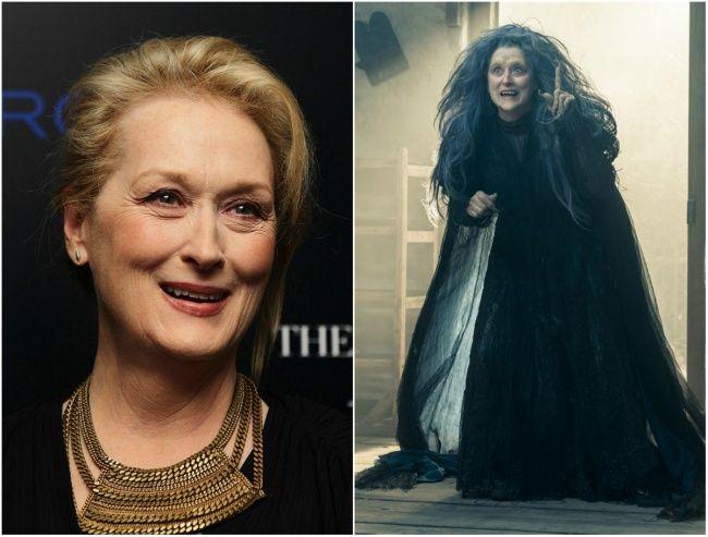 Meryl Streep sebagai nenek sihir Into the Woods, 2014