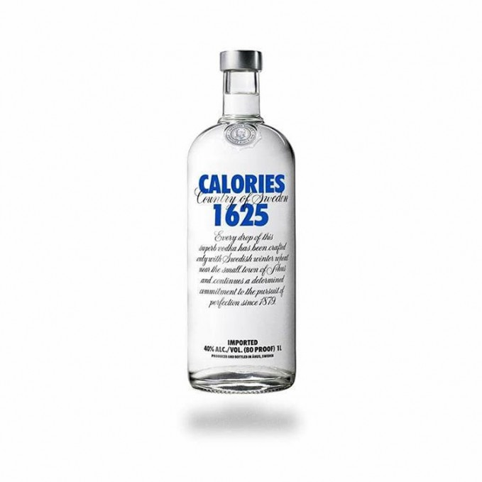 Absolut Vodka 1625 kalori