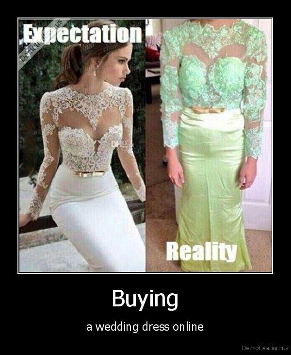 Untuk menghemat budget, pengantin wanita ini membeli kebaya pengantin secara online..dan ini hasilnya!