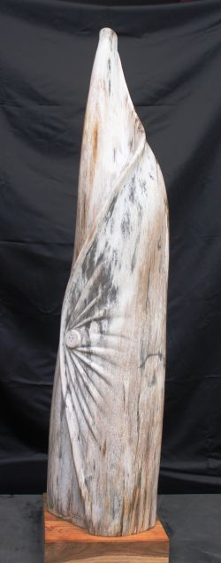 Indonesia petrified wood sculpture