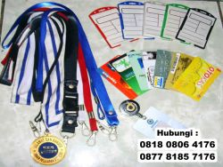 Wow!! Tali Id Card Lanyard Necklace Bahan Polyester