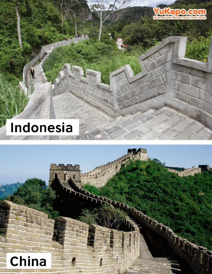 Great Wall of Koto Gadang, Bukittinggi Vs Great Wall, China