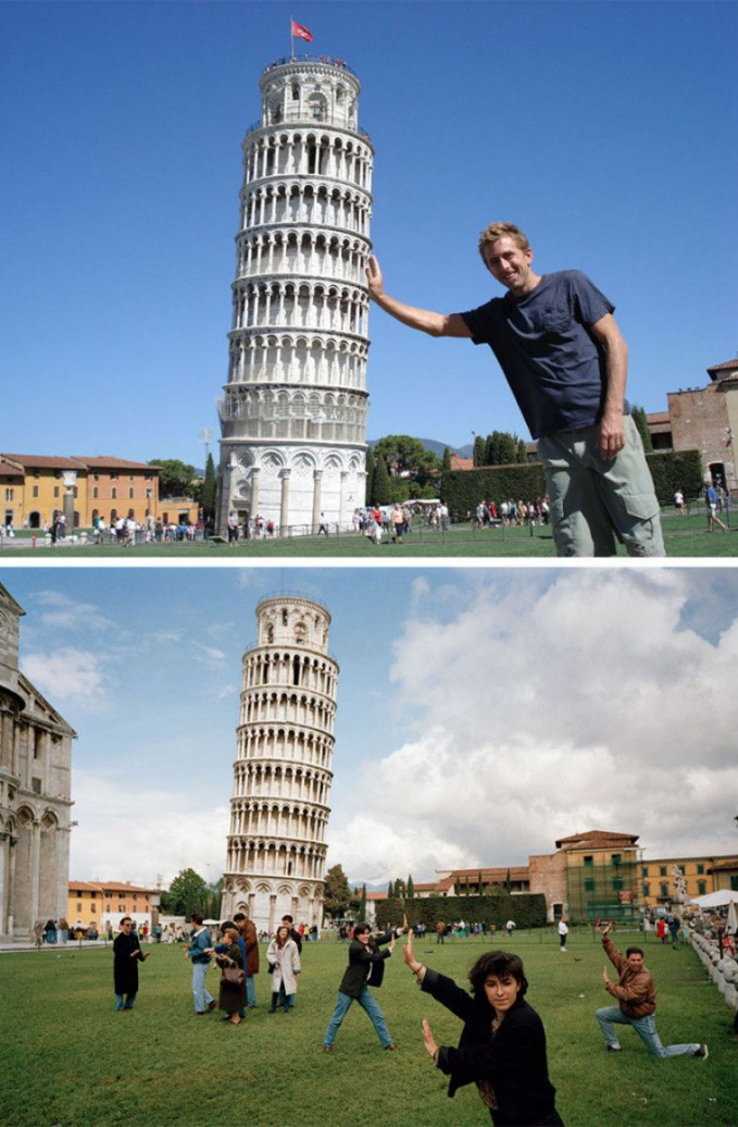 Untuk mendapatkan foto yang pas kamu juga bersaing dengan wisatawan lainnya lho.