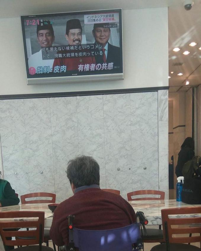 Bahkan kabar ketiga calon presiden ini sampai di negara Jepang lho.