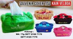 Jual Souvenir Tempat Tissue Velboa Bordir Custom